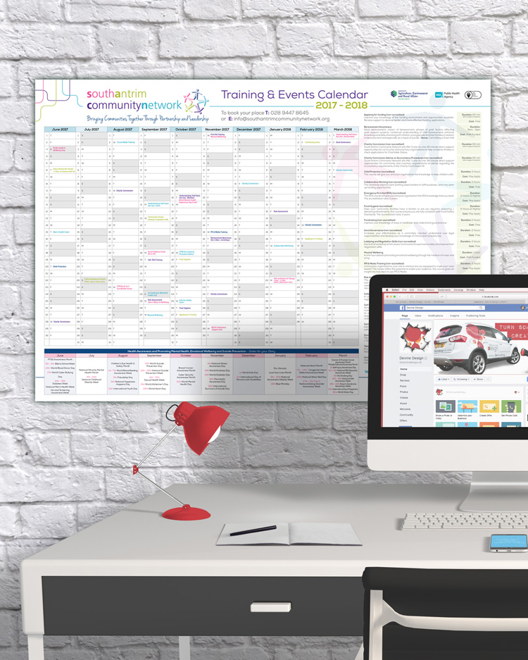 A2 Wall Calendar Planner Devine Design